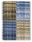 Singles In Gold And Blue Spiral Notebook