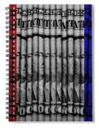 Singles In Red White And Blue Spiral Notebook