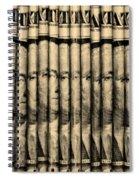 Singles In Sepia Spiral Notebook