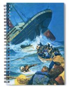 Sinking Of The Titanic Spiral Notebook