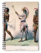 Sioux Lacrosse Players Spiral Notebook