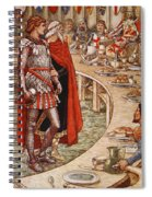 Sir Galahad Is Brought To The Court Of King Arthur Spiral Notebook
