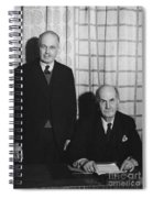Sirs William And Lawrence Bragg Spiral Notebook