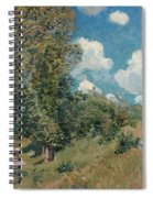 Sisley The Road, 1875 Spiral Notebook