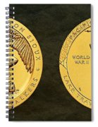 Sisseton Wahpeton Oyate Sioux Tribe Code Talkers Bronze Medal Art Spiral Notebook