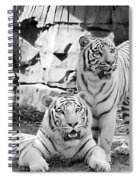 Sisters Black And White Spiral Notebook