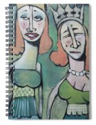 Sisters Going To The Ball Spiral Notebook