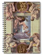 Sistine Chapel Ceiling 1508-12 The Creation Of Eve, 1510 Fresco Post Restoration Spiral Notebook