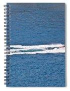 Sit Down Hydrofoil Ski Sport Spiral Notebook