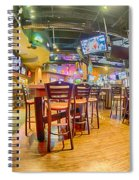 Sitting Area Inside Of A Tavern Bar Restaurant Spiral Notebook