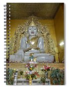 sitting Buddha made from one single marble block in KYAUKTAWGYI PAGODA Spiral Notebook
