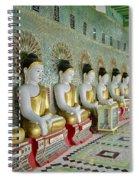 sitting Buddhas in Umin Thonze Pagoda Spiral Notebook