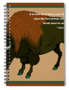 Sitting Bull Buffalo Spiral Notebook