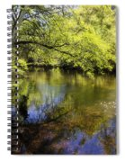Sitting By The Creek  Spiral Notebook