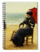 Sitting By The Sea Spiral Notebook