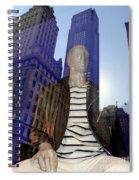 Sitting In Stripes Spiral Notebook