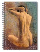 Sitting Nude 3 Spiral Notebook