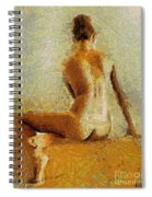 Sitting Nude II Spiral Notebook