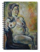 Sitting Nude Spiral Notebook