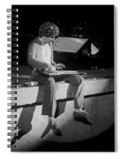 Sitting On The Front Of The Stage 1977 Spiral Notebook