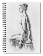 Sitting Woman Study Spiral Notebook