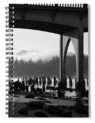 Siuslaw River Bridge Florence Oregon Black And White Spiral Notebook