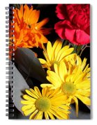 Six Dasies And A Carnation Spiral Notebook