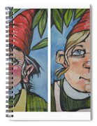 Six Gnomes Horizontal Spiral Notebook