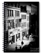 Six O'clock On The Street - Black And White Spiral Notebook