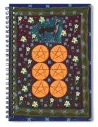 Six Of Pentacles Spiral Notebook