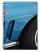 Sixty Six Corvette Roadster Spiral Notebook