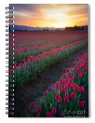 Skagit Valley Blazing Sunrise Spiral Notebook