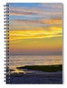 Skaket Beach Sunset 5 Spiral Notebook