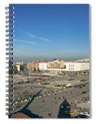 Skanderberg Square In Tirana Albania Spiral Notebook