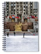 Skating At Rockefeller Plaza Spiral Notebook