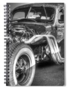 Skeleton Of A Classic Car Spiral Notebook
