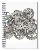 Sketch Of Machinery Spiral Notebook