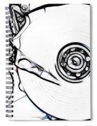 Sketch Of The Hard Disk Spiral Notebook