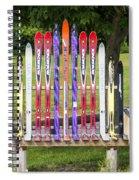Ski Bench - Fort Foster - Maine Spiral Notebook