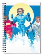 Ski Fun Art Spiral Notebook