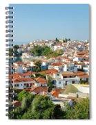 Skiathos Harbour In Greece Spiral Notebook