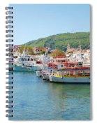 Skiathos Town Harbour Spiral Notebook