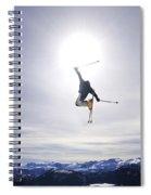 Skier Jumping, Courtenay, Bc Spiral Notebook