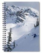 Skier Shredding Powder Below Nak Peak Spiral Notebook