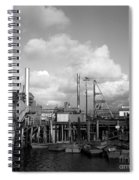 Skiffs At  Montereys Fisherman's Wharf California Circa 1945 Spiral Notebook
