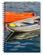 Skiffs At The Harbour Spiral Notebook