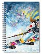 Skiing 03 Spiral Notebook