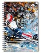 Skiing 04 Spiral Notebook