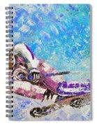 Skiing 06 Spiral Notebook