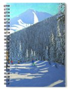 Skiing  Beauregard La Clusaz Spiral Notebook